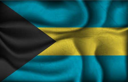 bahamas celebration: crumpled flag of Bahamas on a light background.