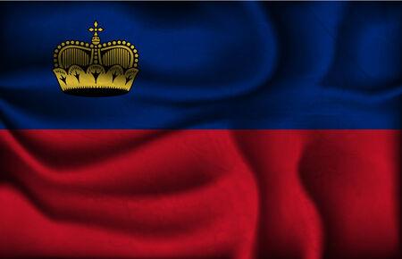 liechtenstein: crumpled flag of Liechtenstein on a light background.