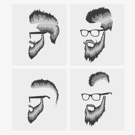 style goatee: hairstyles with beard and mustache wearing glasses