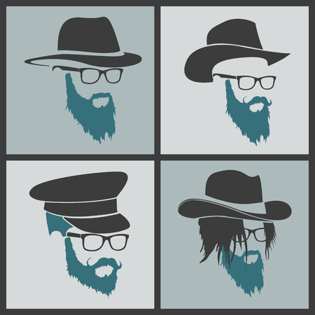 full face: icon hairstyles beard and mustache hipster full face