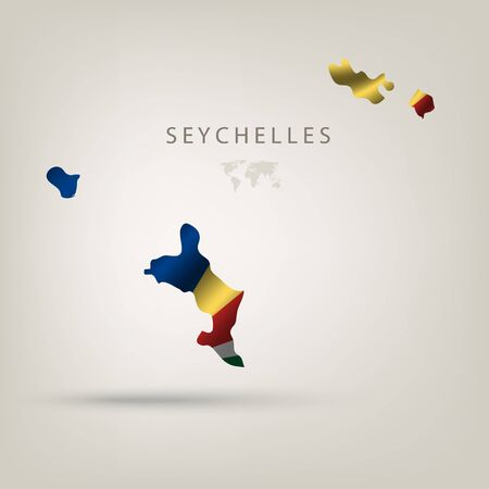 seychelles: Flag of SEYCHELLES as a country with shadow