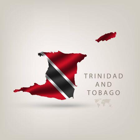 trinidad: Flag of TRINIDAD AND TOBAGO as a country with shadow
