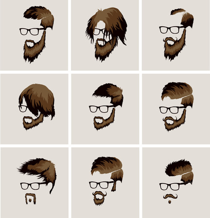 mutton: hairstyles with beard and mustache wearing glasses
