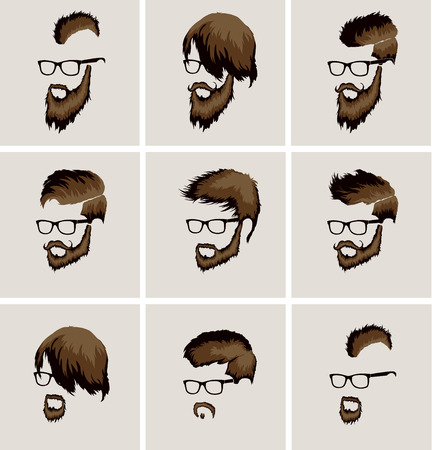 sideburn: hairstyles with beard and mustache wearing glasses