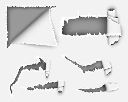 blatt: zerrissenes Papier. Loch in der Notebook-Blatt in einem Käfig