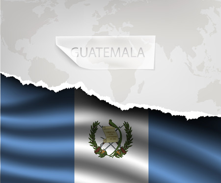 guatemala: torn paper with hole and shadows GUATEMALA flag