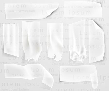set of transparent adhesive tape, scotch tape 일러스트