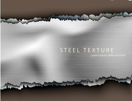 Template for the text from the metall background with shadows