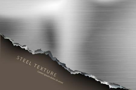blatt: Vorlage für den Text aus dem Metall Hintergrund mit Schatten