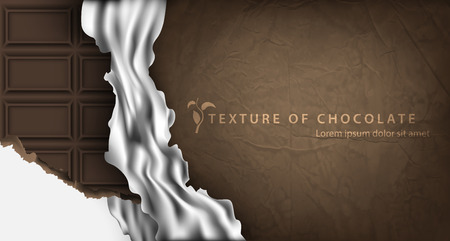 wrapper: texture of chocolate bar in paper packaging Illustration