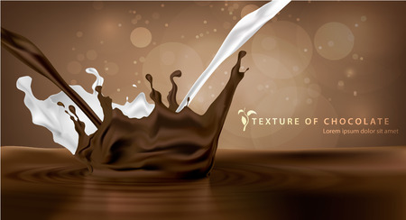 fond doux lait au chocolat et pulvérisation texture
