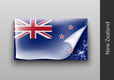 masking: Flag of New Zealand with the tattered masking tape