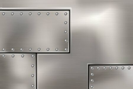 rivets: riveted steel rivets and screws metal background Illustration