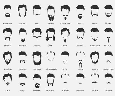 Cheveux et barbes de différentes confessions et traditions Banque d'images - 47531069