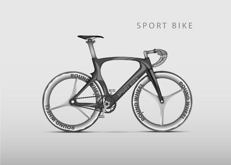 road bike: Vector realistic racing bicycle road racing on a light background
