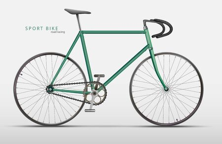 racing bicycle: Vector realistic racing bicycle road racing on a light background