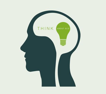 green environment: think about the environment. green light, the concept of ecology