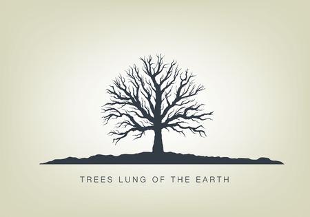 정원에서 나무의 그림입니다. 자연 생태의 아이콘