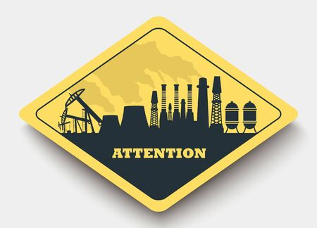 overhaul: sign energy and attention. yellow a rhombus icon