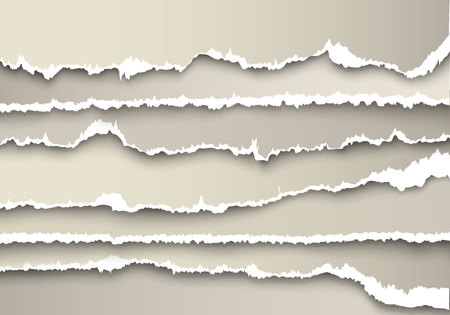 edge: set of sheets of paper torn gray with shadows Illustration