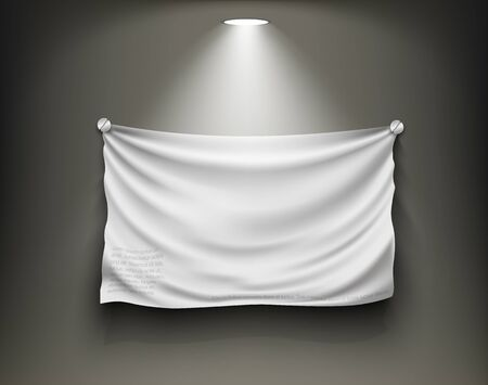 shop window display: gallery with blank white place with light and shadow, frame for text