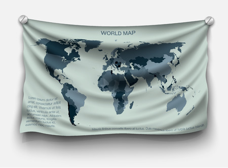 website template: with the shadow of a world map on the flag of the fabric