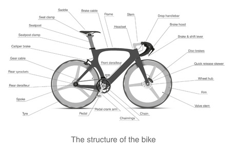 treadle: Infographic of the structure of a multi-speed bike
