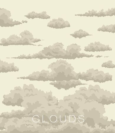 sky: abstract background of clouds in the sky in vintage style