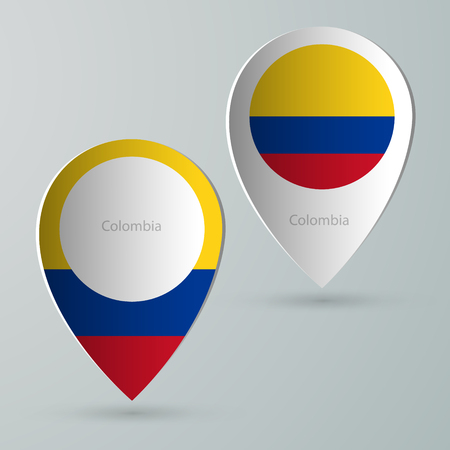 tourist guide: paper of map marker for maps and navigators colombia