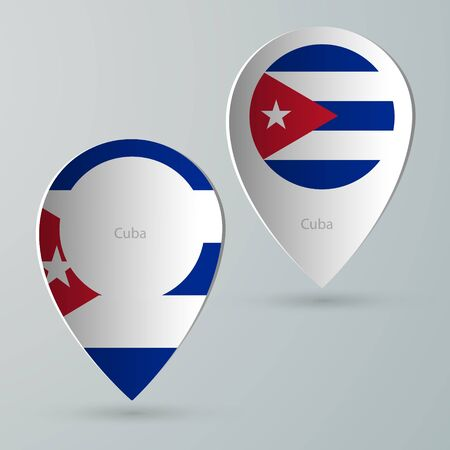 tourist guide: paper of map marker for maps and navigators cuba Illustration