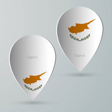 tour guide: paper of map marker for maps and navigators cyprus Illustration