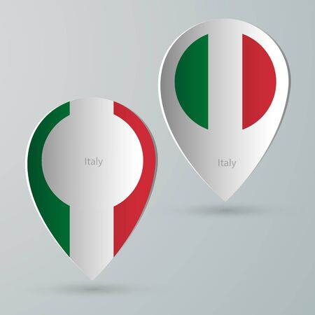 tourist guide: paper of map marker for maps and navigators italy