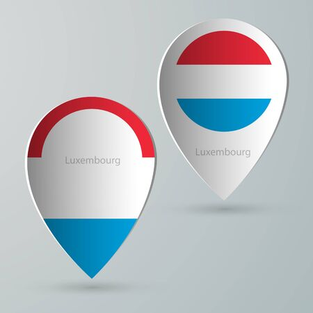 tour guide: paper of map marker for maps and navigators luxembourg Illustration