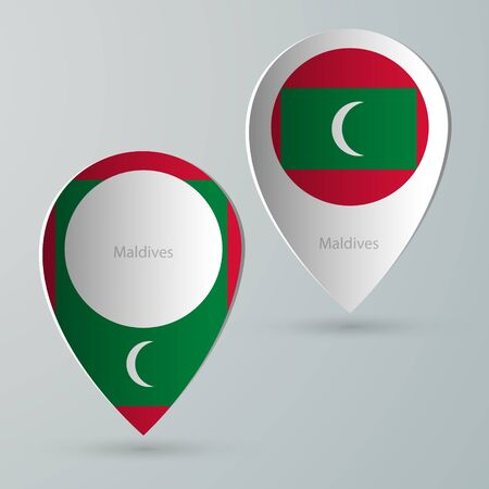 tourist guide: paper of map marker for maps and navigators maldives
