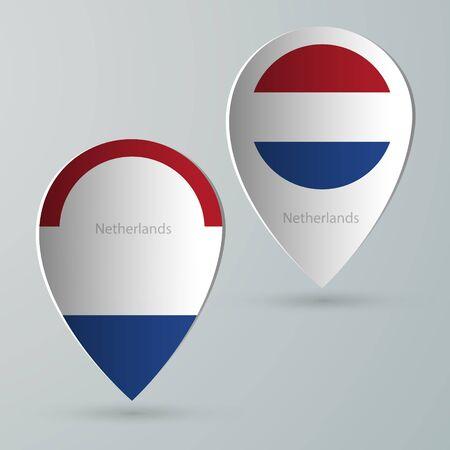 tourist guide: paper of map marker for maps and navigators netherlands Illustration
