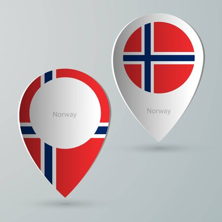 tour guide: paper of map marker for maps and navigators norway