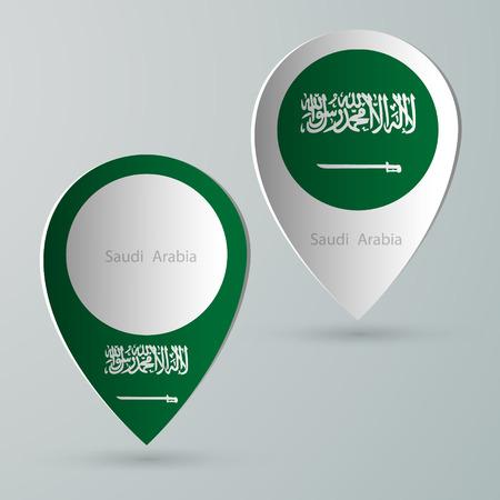 tourist guide: paper of map marker for maps and navigators saudi arabia Illustration