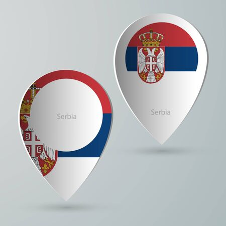 tour guide: paper of map marker for maps and navigators serbia