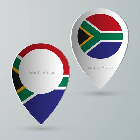 south africa map: paper of map marker for maps and navigators south africa