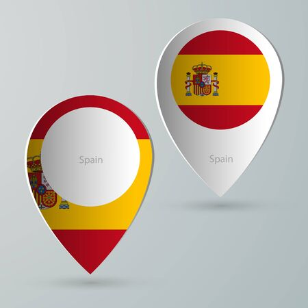 tourist guide: paper of map marker for maps and navigators spain