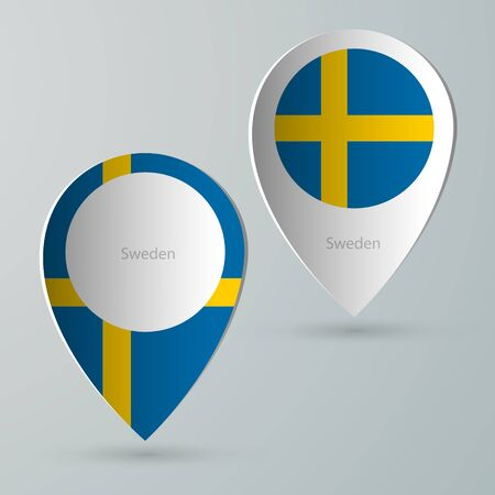 map icon: paper of map marker for maps and navigators sweden