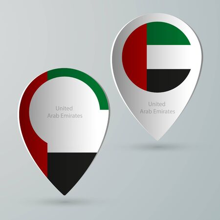 tourist guide: paper of map marker for maps and navigators united arab emirates