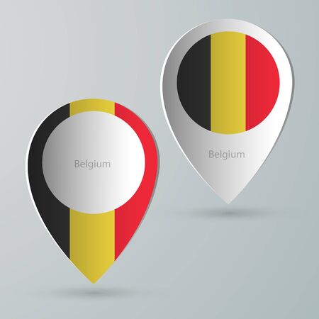 tourist guide: paper of map marker for maps and navigators belgium