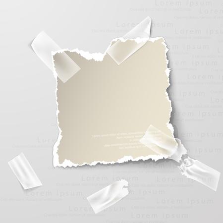 Lments de conception, papier déchiré Banque d'images - 61449566