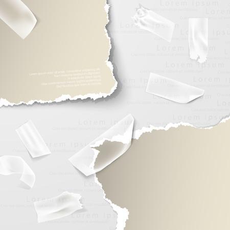 torn paper: design elements, torn paper Illustration