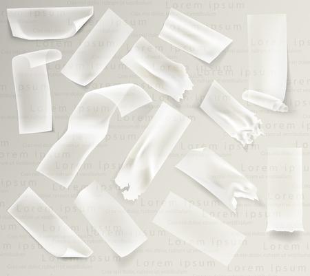 set of transparent adhesive tape