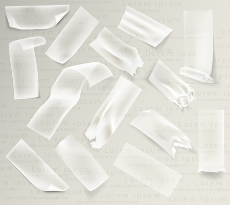 adhesive tape: set of transparent adhesive tape