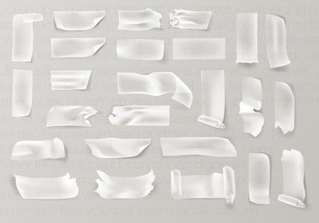 透明粘着テープと粘着セロテープのセット  イラスト・ベクター素材