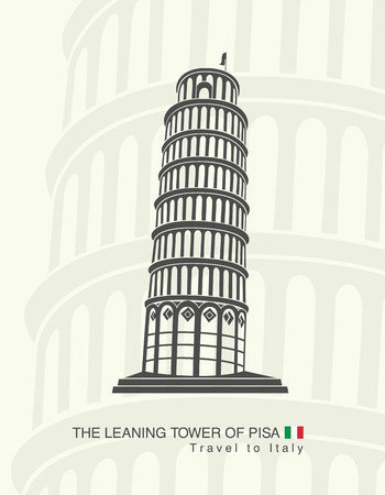 leaning tower of pisa: figure leaning tower of Pisa in Italy Illustration
