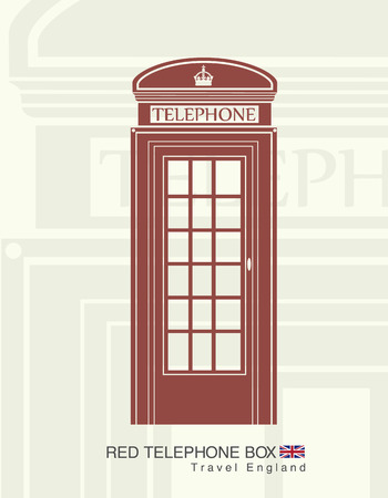 stereotypes: figure of a red telephone booth in England